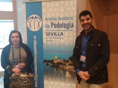 resentación de las Jornadas Andaluzas en el Seminario Internacional de Patología del Pie en Zaragoza Abril 2019