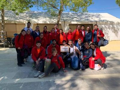 DISPOSITIVO DEL COLEGIO DE PDOLOGOS EN LA CARRERA DE MONTAÑA 101 KM LA LEGIÓN RONDA MAYO 2019