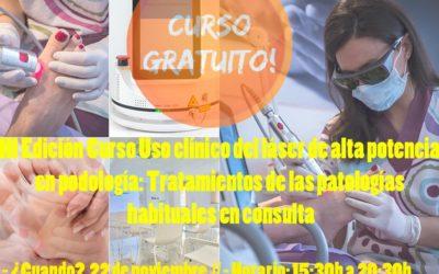 III Edición Curso Uso clínico del láser de alta potencia en podología