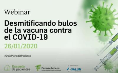 """Sesión formativa Webinar """"Desmitificando bulos de la vacuna contra el COVID-19"""""""