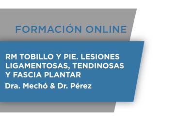 Formación Online: RT Tobillo y Pie. Lesiones Ligamentosas, tendinosas y fascia plantar
